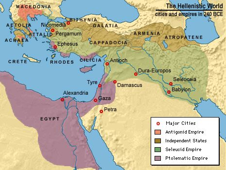 Map of Hellenistic World 240 B.C.E.