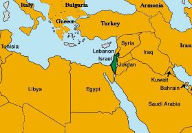 Image Gallery israel on world map