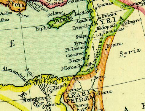 Maps Of Ancient Syria - Map of egypt and syria