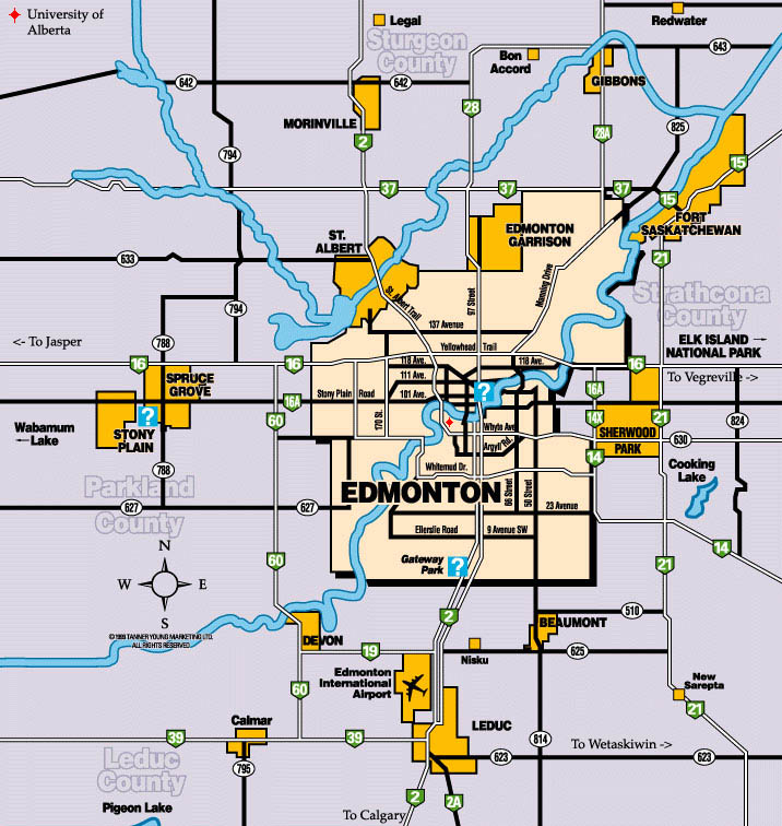 Map Of Edmonton Area Maps